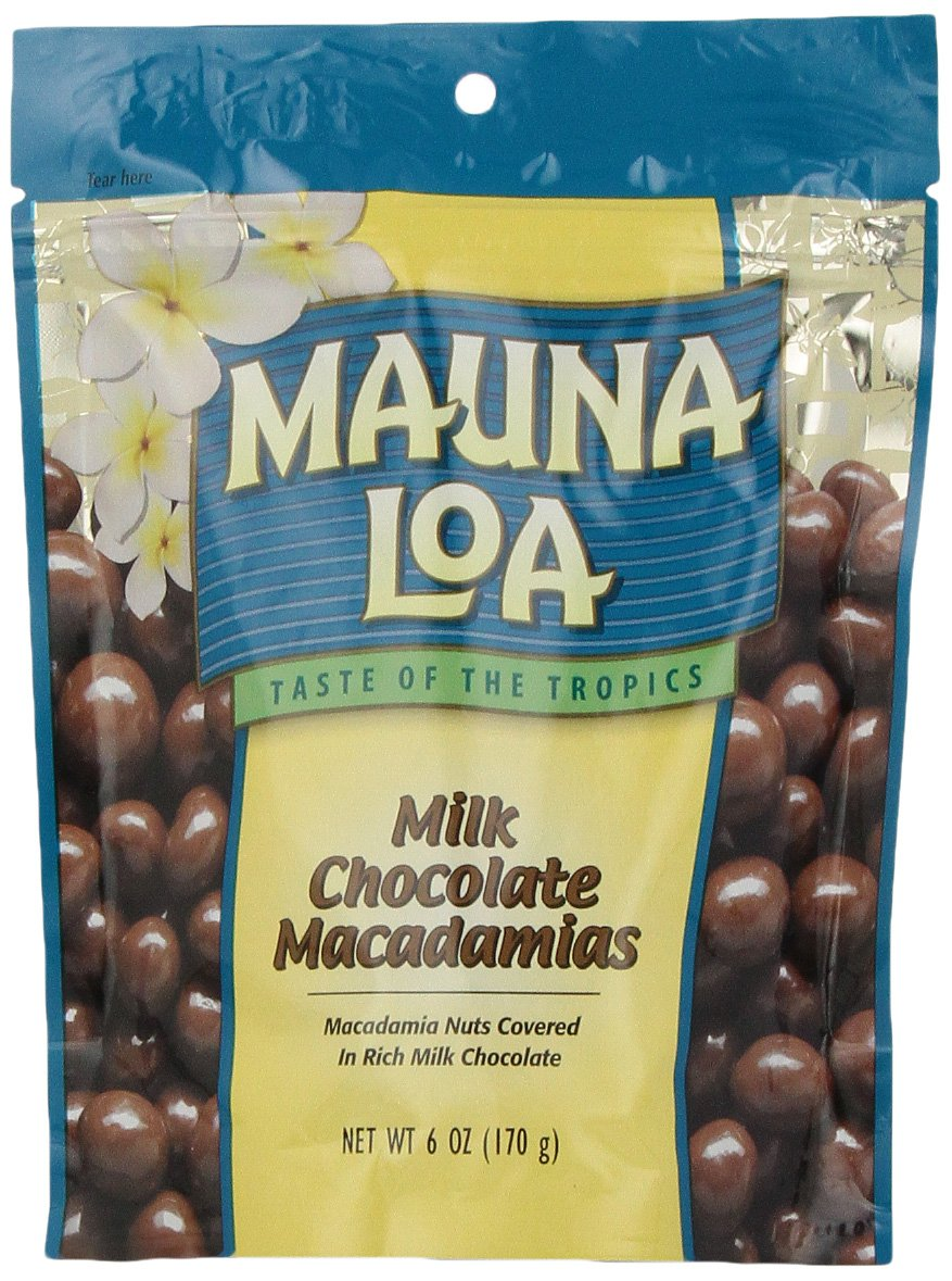 Mauna Loa Macadamias, Milk Chocolate, 6-Ounce Bags (Pack of 4) by Mauna Loa