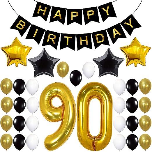 Adornos para fiesta de 90 cumpleaños, suministros para ...
