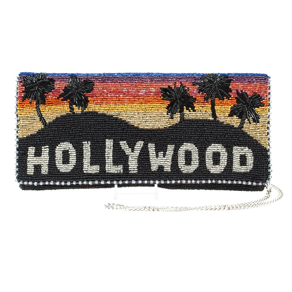 MARY FRANCES Hollywood Hills Beaded Clutch