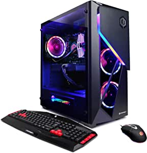 CYBERPOWERPC Gamer Supreme Liquid Cool Gaming PC, Intel i7-9700K 3.6GHz, Radeon VII 16GB, 16GB DDR4, 1TB PCI-E NVMe SSD, 3TB HDD, WiFi & Win 10 Home (SLC10420CPG)