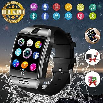 Bluetooth Smart Watch Sport Smartwatch mit Kamera Wasserdicht Uhren Fitness Tracker Armbanduhr Kompatible iOS iPhone Android Samsung LG f¨¹r Herren