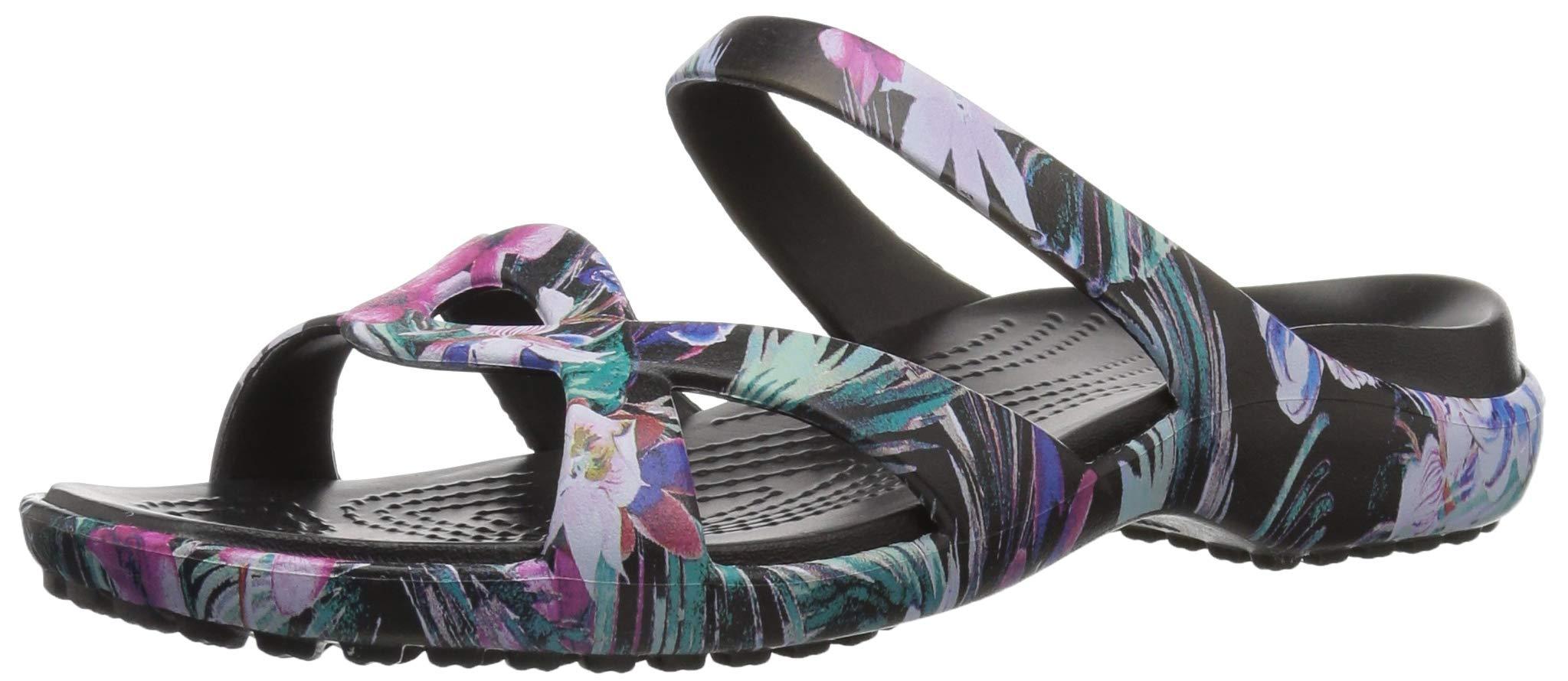 Crocs Women's Meleen Twist Graphic Slide Sandal, Tropical Floral, 7 M US