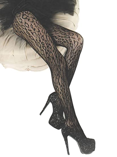 85e400c84 Killer Legs Wild Leopard Black Fishnet Tights by Yelete Queen Size at  Amazon Women s Clothing store