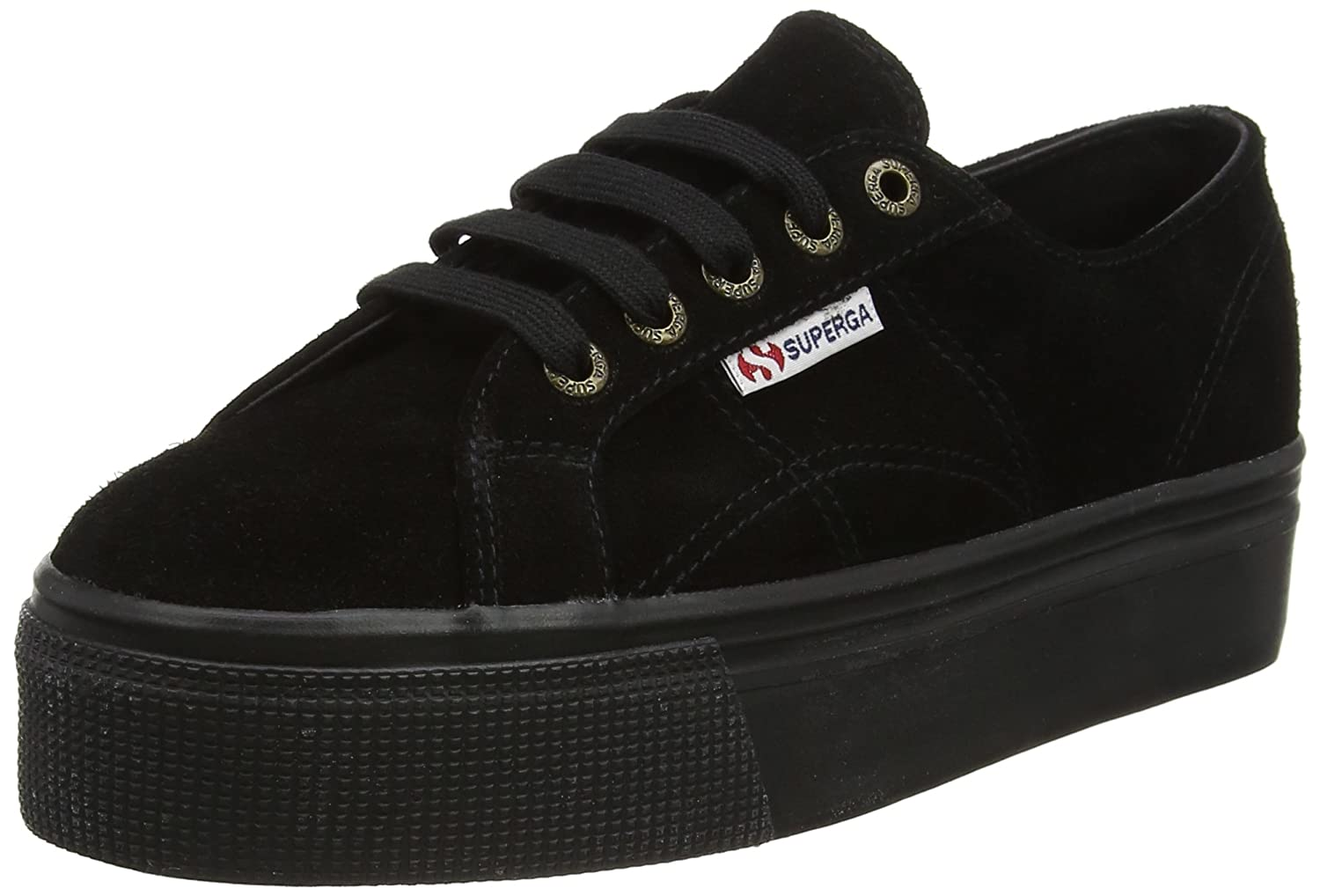 Superga 2790-suew, Women's Flatform Pumps Black