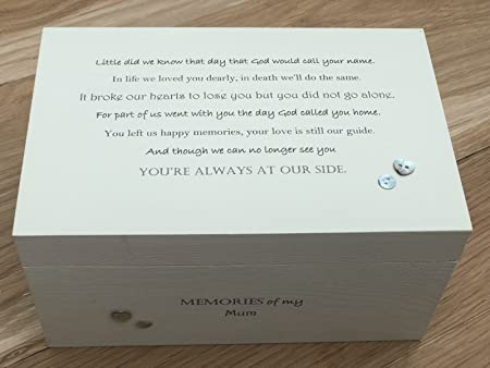 Personalised In Memory Of A Loved One ~ Box ~ WIFE ~ any Name Bereavement Loss