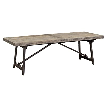 Amazon Com Zilla Rustic Industrial Drop Leaf Pine Dining Table