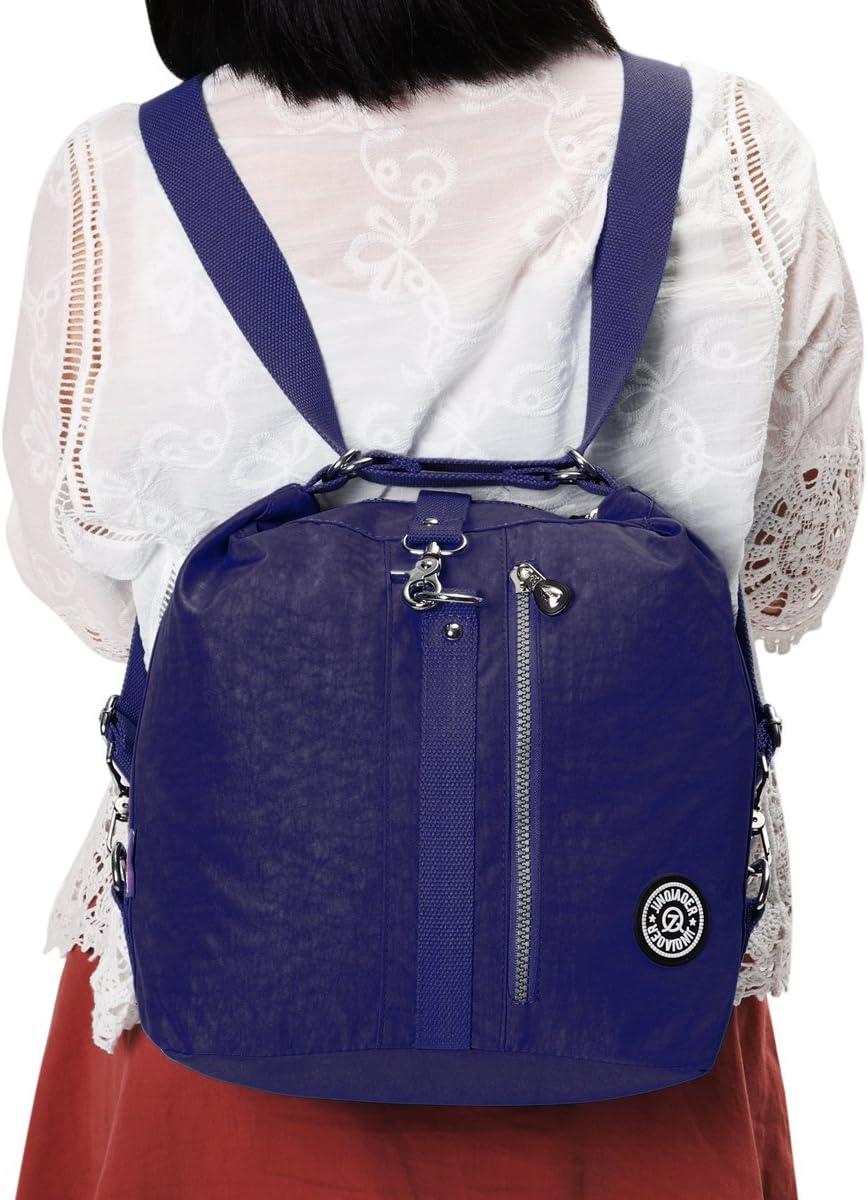 Tezoo Multi-fonction Imp/émeable Sports Voyage /École Sac /à Langer pour Femme Fille Etudiant Sacs bandouli/ère//Sac /à dos Two-ways Bleu Rose Rouge Beige Violet