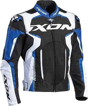 Ixon - Chaqueta de moto Gyre, color negro, blanco y azul ...