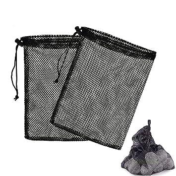 Nylon Mesh Bag Pouch Holder Carrying Tennis Nets Balls Closure Golfball Bag Golf