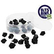 """30 BitsBins PODS, Round Storage Containers for Game Pieces, Measures 2.5"""" X 0.875"""", Perfect way to store your small pieces for Board Games"""