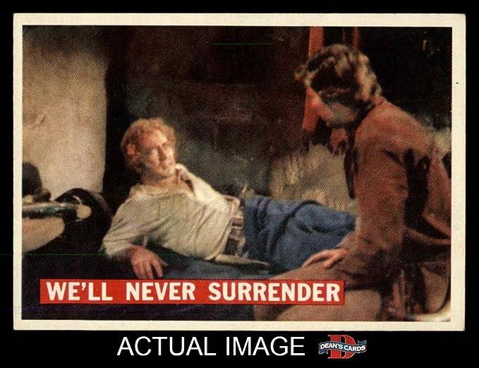1956 Topps Davy Crockett Orange Back 61 Well Never Surrender