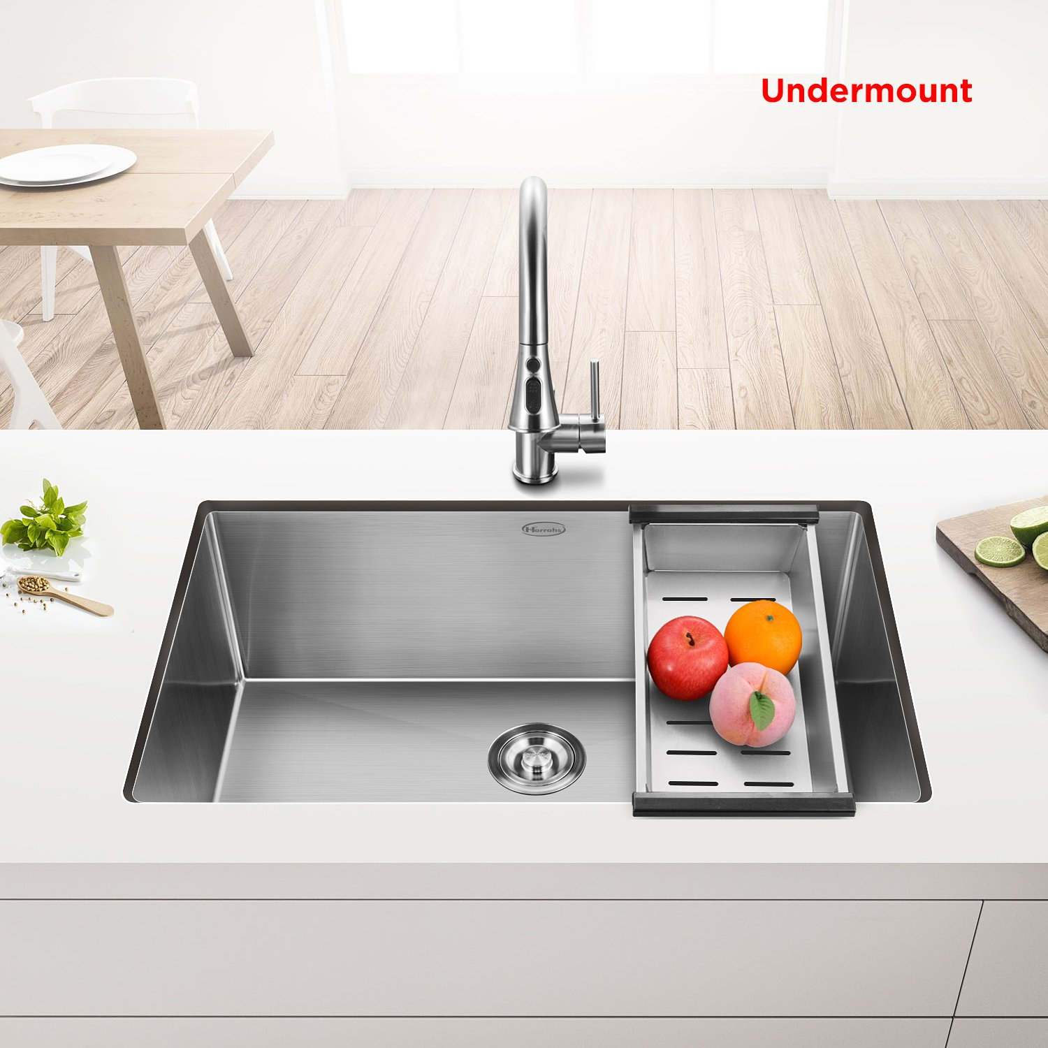 Commercial 30 Inch 10 Deep Stainless Steel Kitchen Sink Counter Model Requires Plumbing And Electrical Work Under Your Handmade Drop In Undermount Single Bowl 11g Lip 18 G Basin With Drain Strainer Grid
