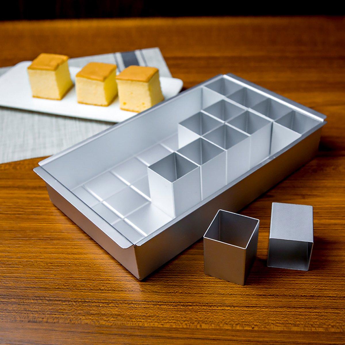 Baker Boutique Molde de Aluminio Antiadherente para Tartas, Molde para Tartas, Alfabeto con diagramas de Letras y números, fácil de Usar, Color Plateado: ...