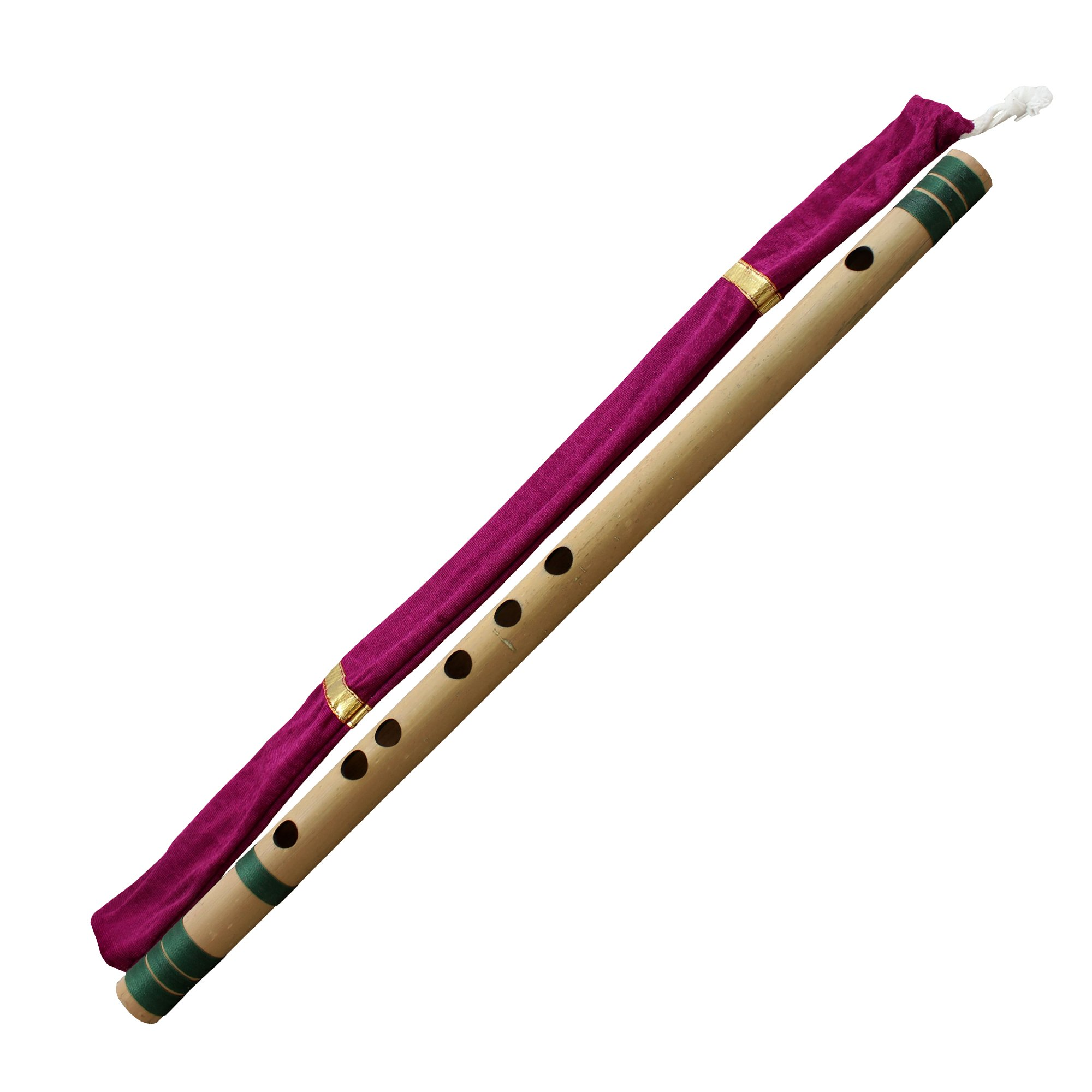 Professional Bamboo Flute Indian Flute C# Tune Wood Wind Music Instrument Length 18 Inch by RoyaltyRoute (Image #2)