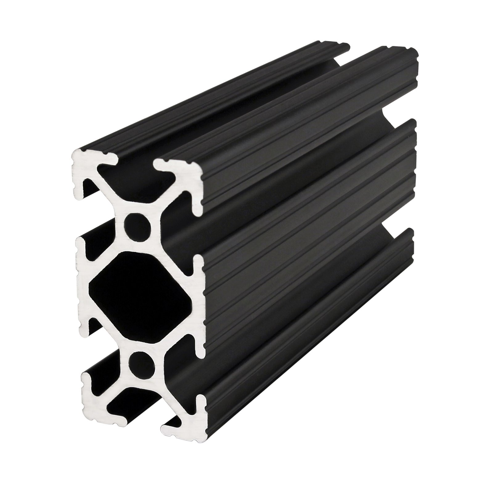 80/20 Inc., 1020, 10 Series, 1'' x 2'' T-Slotted Extrusion x 24'' Black