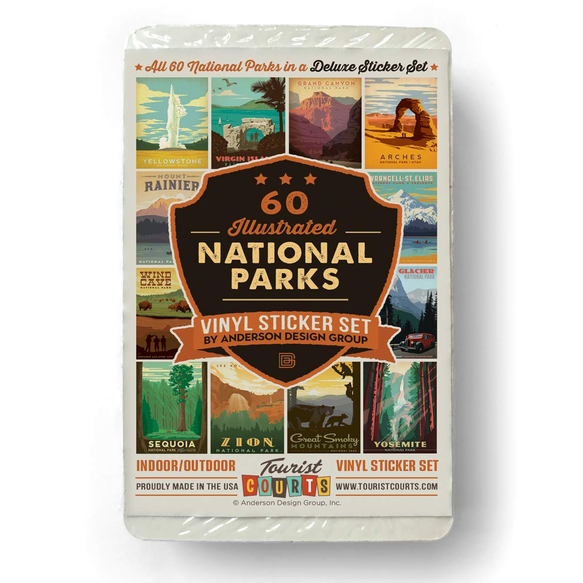 59-Piece Deluxe National Parks Sticker Set