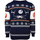 Star Wars Official X-Wing Vs. Tie Fighter Christmas Jumper/Ugly Sweater UK 3XL/US 2XL