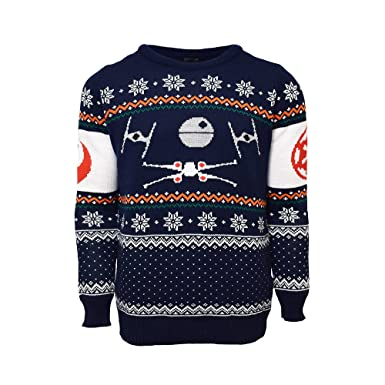 official x wing vs tie fighter star wars christmas jumper ugly sweater