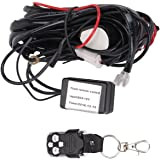 QDY Remote Wiring Harness for Led Light Bar with 12V 40A One Line Kit ON/OFF Switch Relay for Work Lights Off Road Fog Driving Lights( Remote Control)