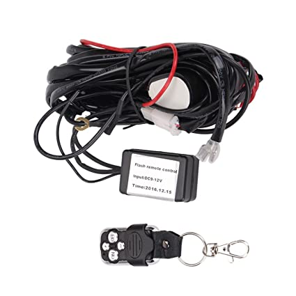 amazon com qdy remote wiring harness for led light bar with 12v 40a rh amazon com