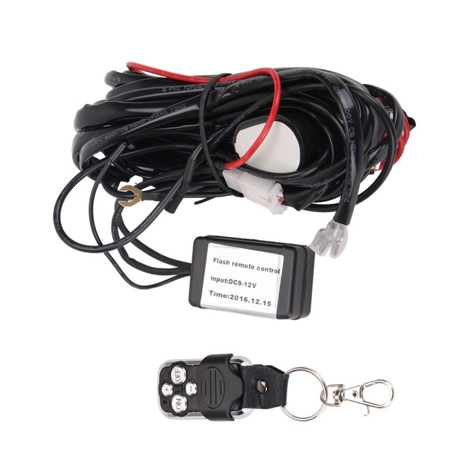qdy remote wiring harness for led light bar with 12v 40a one line kit on/