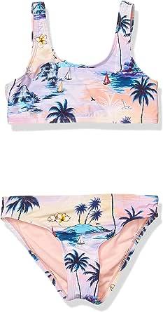 Hobie Girls' Big Tank Bralette Bikini Top and Hipster Bottom Swimsuit Set