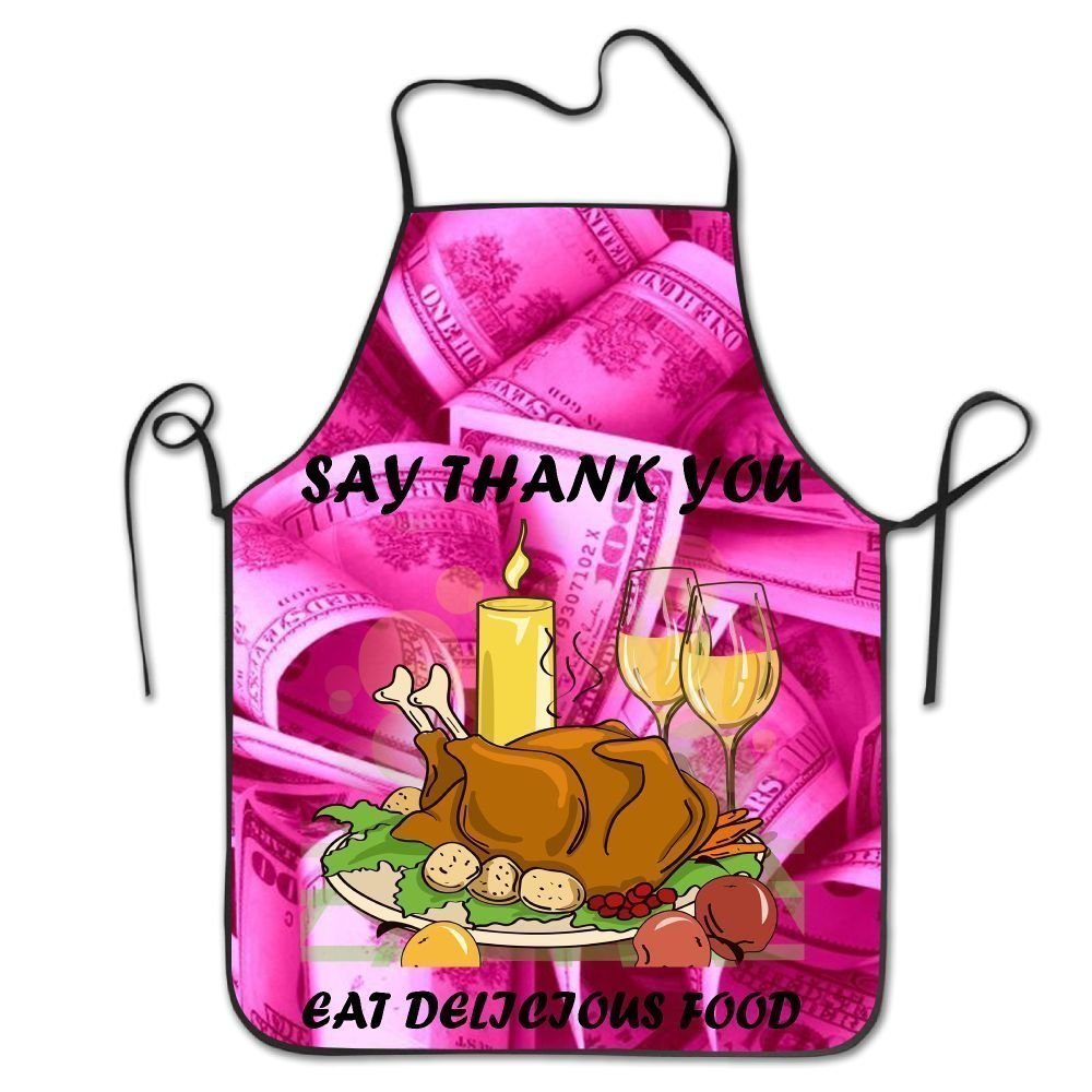 Thanksgiving Turkeyレディース面白いクリエイティブ印刷料理エプロン   B07DHCPSYP