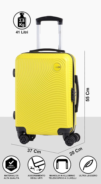 Cabin Go Max 5512 Valise rigide en ABS 8 roues 55 x 37 x 20 cm utilisable comme bagage /à main de taille standard.