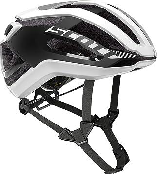 Scott 275186 - Casco de Bicicleta Unisex para Adulto, Blanco/Negro ...