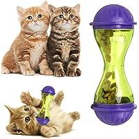 Crewell - Comedero de plástico para Perros y Gatos, dispensador de Comida para Mascotas, Juguete para Comida