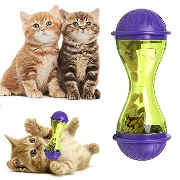 Lanceasy - Comedero de plástico para Perros y Gatos, dispensador de Comida para Mascotas, Juguete para Comida: Amazon.es: Hogar