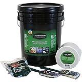 "Liquid Rubber Waterproof Sealant 5G Kit - Original Black - Includes 5G Pail, Liquid Rubber 4"" x 50' Seam Tape, Brushes and Gloves"