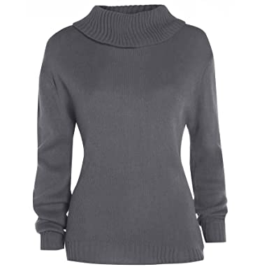 sneakers for cheap 3dd89 3eaa1 Pullover Sweatshirt Damen einfarbig Polo Stretch gestrickt ...