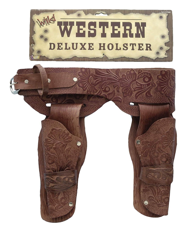 Forum Novelties Men's Deluxe Cowboy Holster Wild West Costume Accessory