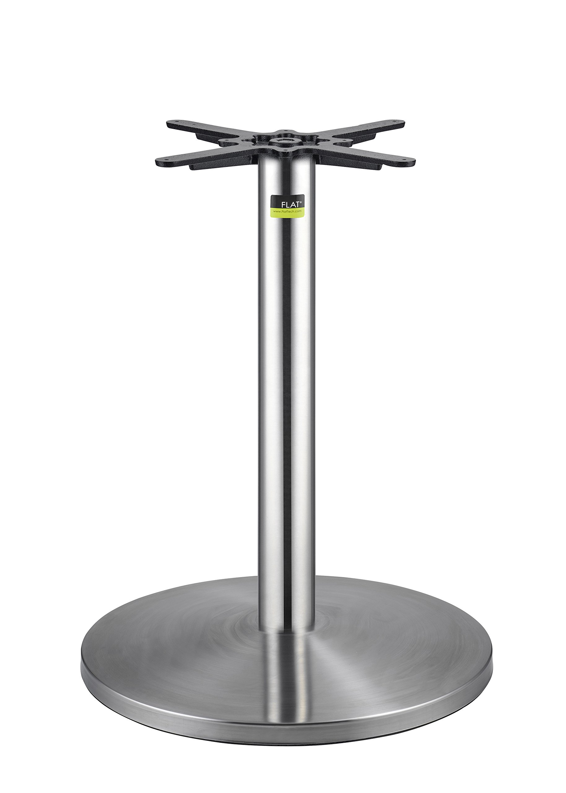 FLAT Self-Stabilizing BR22 (22''), Stainless Steel, Dining Height Table Base