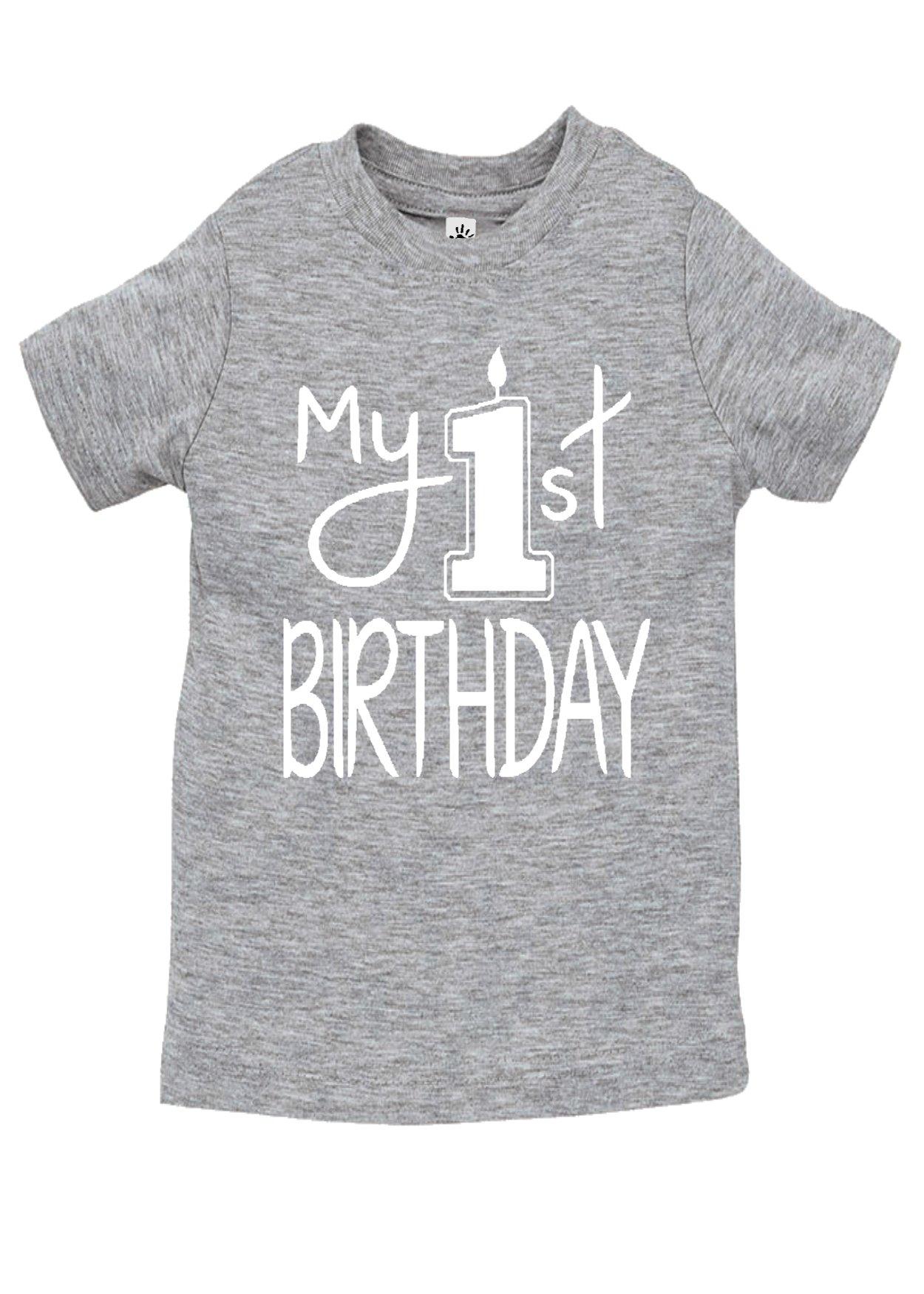 Aidens Corner My First Birthday Shirts