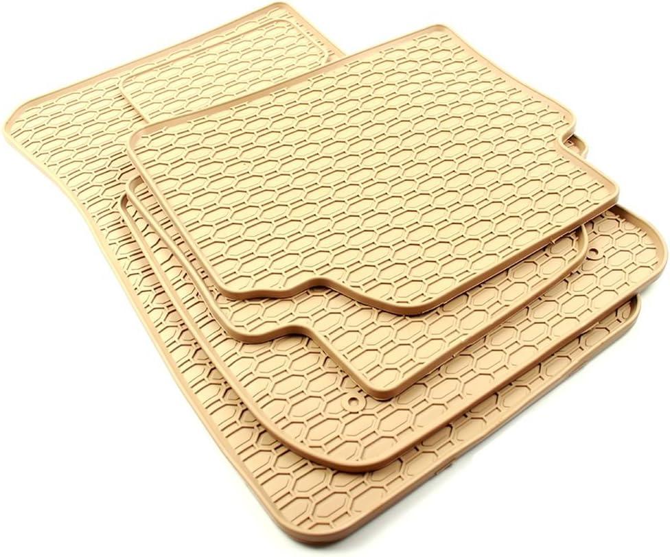 All4you Gummimatten Original Qualität Fußmatten 100 Passgenau Beige Gummi 4 Teilig Fahrzeugspezifisch Auto