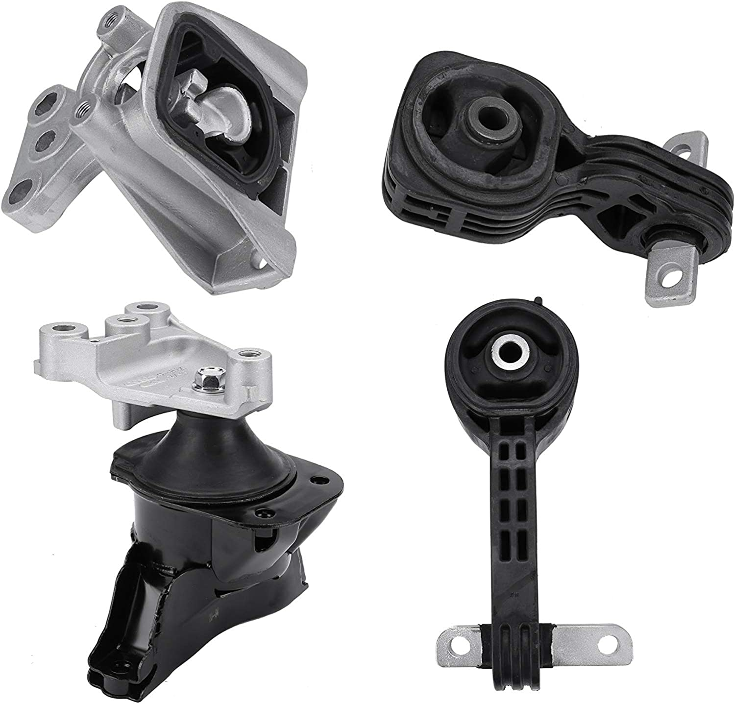 A4546 Engine and Transmission Mount Set of 4 Replaces 50850-SNA-A81 50820-SNA-023 A4543 50890-SNA-A81 50880-SNA-A81 Fits Honda Civic 2006-2010 1.8L with Automatic Trans A4530 A4534