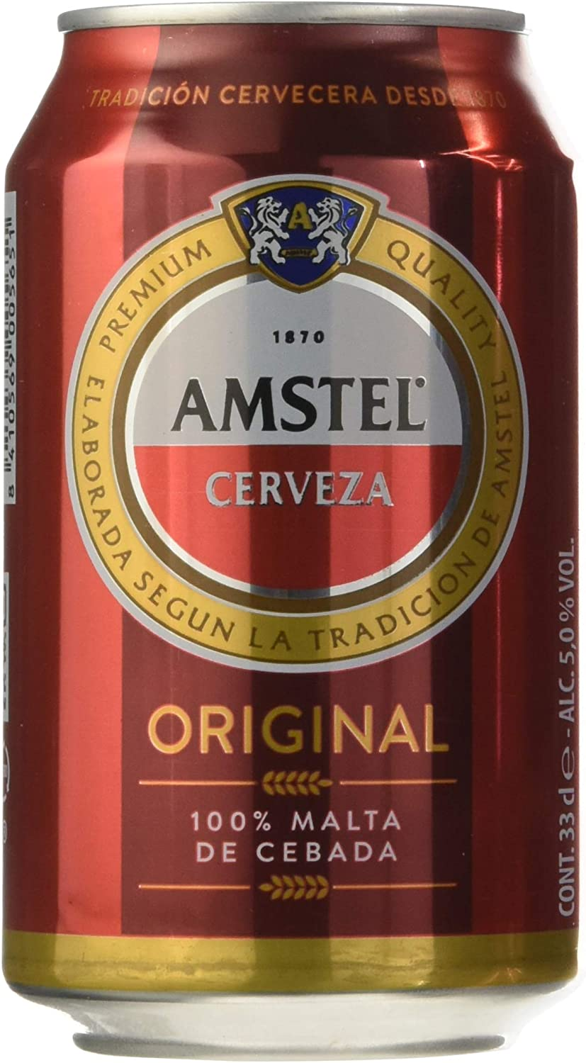Amstel Cerveza - Pack de 12 Latas x 330 ml - Total: 3,96 L: Amazon ...
