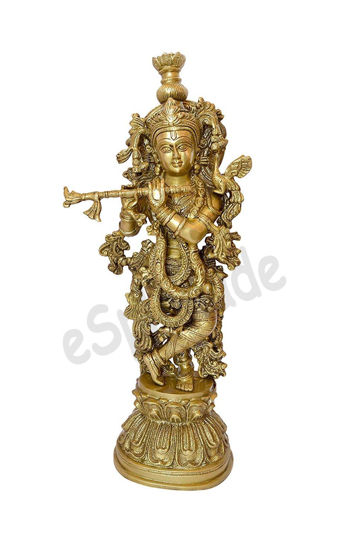 ESPLANADE Brass Laddu Gopal Idol, Large
