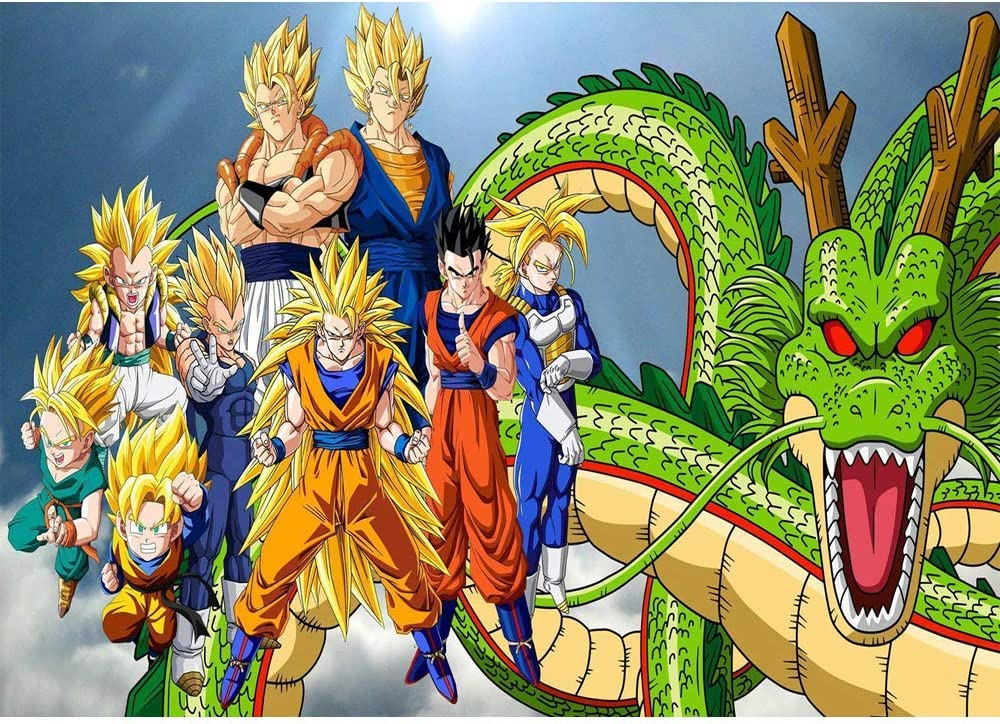 FREE P+P dragon ball Dragonball z  card Personalised any name age or relation