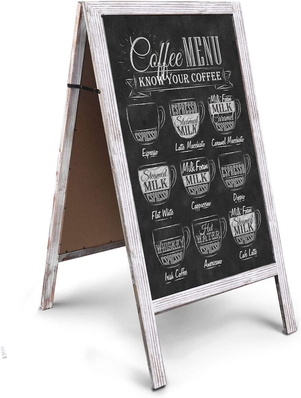 Chalkboard Easel,Store Display Sign Blackboard 40 RHF Double Sided Chalk Board Sign,Sidewalk Sign,Sandwich Chalkboards,Rustic Freestanding A-Frame Wedding Decoration,Non-Porous Message