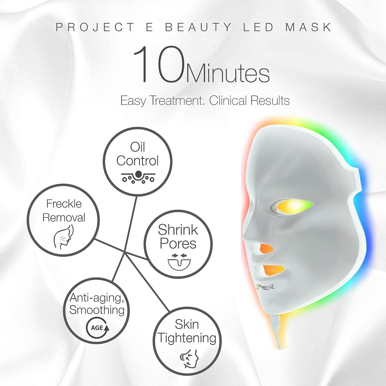 amazon com : project e beauty 7 color led mask photon light skin  rejuvenation therapy facial skin care mask : beauty