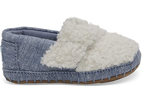 c43e1b2d0ee TOMS Kids Unisex Crib Alpargata (Infant Toddler) Natural Faux  Shearling Chambray 1