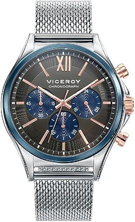 Viceroy Reloj Cronógrafo para Hombre de Cuarzo con Correa en Acero ...