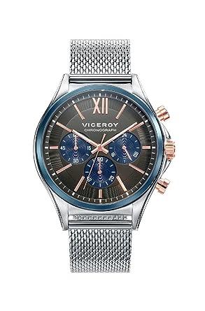 Viceroy Reloj Cronógrafo para Hombre de Cuarzo con Correa en Acero Inoxidable 471111-53: Amazon.es: Relojes