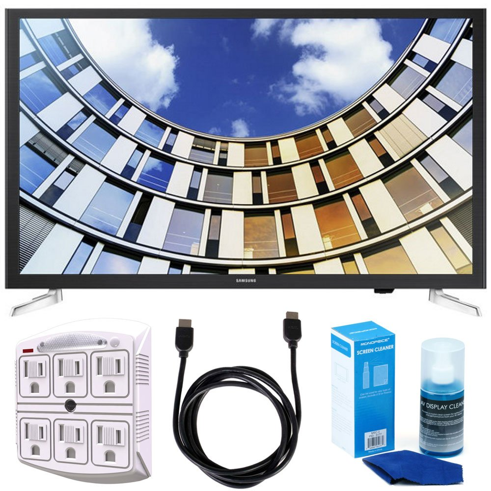 Samsung UN32M5300AFXZA 32'' LED 1080p Smart HD TV (2017 Model) Bundle with TV, 6ft High Speed HDMI Cable, Universal Screen Cleaner, and SurgePro 6 NT 750 Joule 6-Outlet Surge Adapter with Night Light