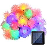 Qedertek Chuzzle Ball Solar Christmas Lights, 15ft 20 LED Fairy Lights for Indoor and Outdoor, Home, Patio, Lawn, Garden, Party and Holiday Decorations (Multi-Color)