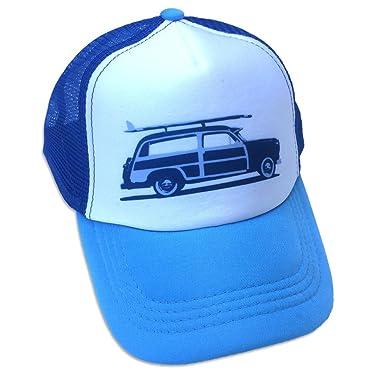 Amazon.com  Sol Baby Surf Woody Car Trucker Hat-S-Blue  Clothing 197eb544bc3
