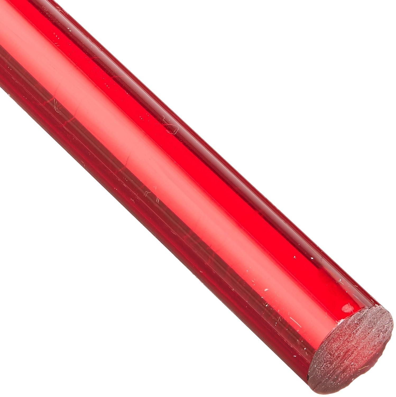 4 Length 1//2 Diameter Translucent Blue Acrylic Round Rod